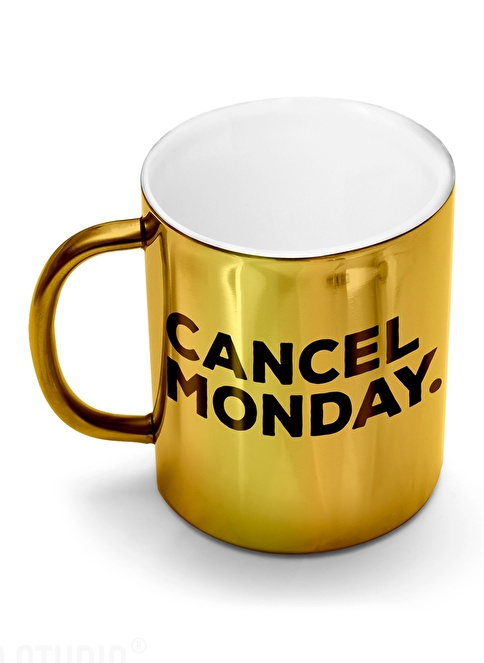 Smaller Studio Cancel Monday Mug Altın